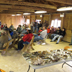 large crowd gathered for Cumberland Mycological Society's talk on mushrooms at Wild Foods Day Presentation
